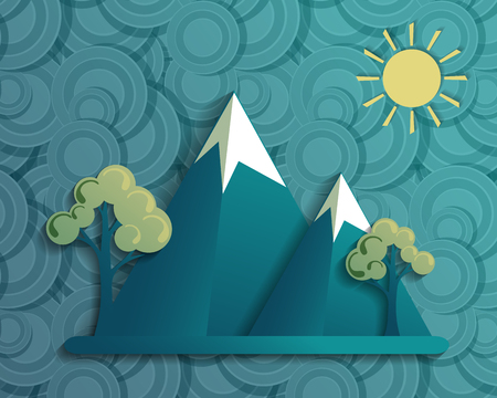 mountaineering: mountains landscape concept
