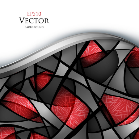colorful vector wavy background