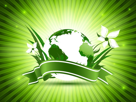 World environment day vector background. Holiday illustration with globe. Abstract concept idea for your design. Eps10