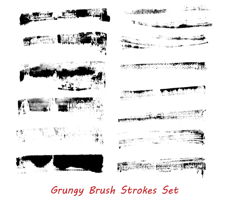 grungy: Grungy brush strokes set