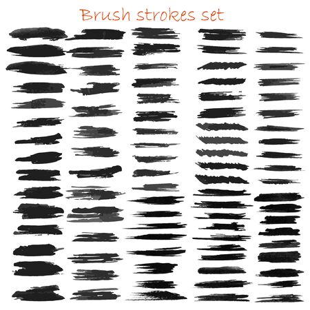 Grungy  brush strokes set Illusztráció