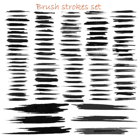 big brush strokes collection. Hand drawn vector design elements for your art. Unic and original textures. Eps10