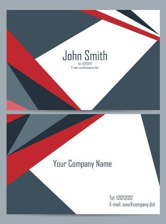 Business cards set Illustration