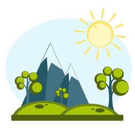 summer time background  イラスト・ベクター素材