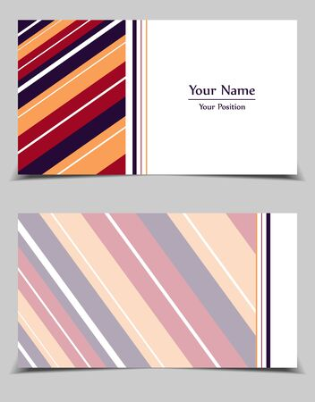 Business cards vector collection. Abstract presentation colorful templates set. Elements for your work, design for your company identity. Eps10