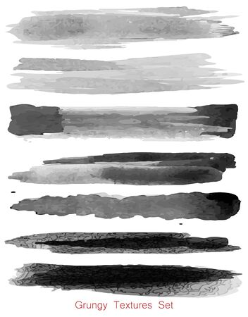 Grungy textures set on white  イラスト・ベクター素材