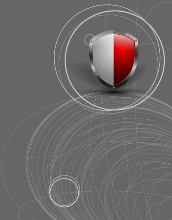 trendy background with shield