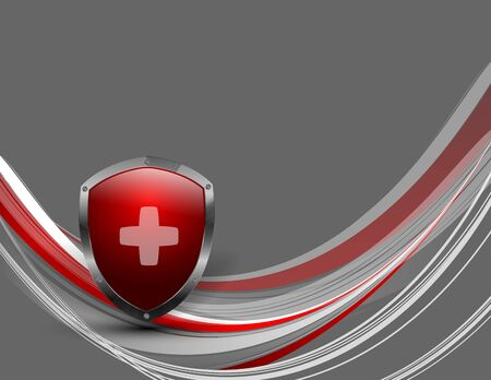 shield protection vector modern background with copy space. Elements for your work, design. Eps10 illustration