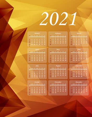 2021 calendar template