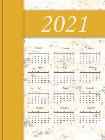 2021 calendar template 写真素材 - 159872796