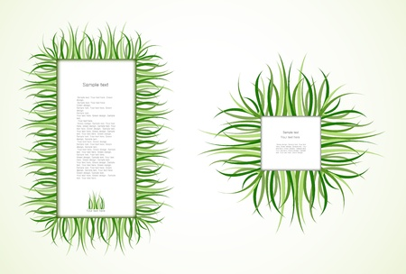 Grass Frames. Vector Stock Vector - 12290838