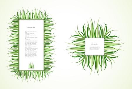 Grass Frames. Vector Stock Vector - 12290838
