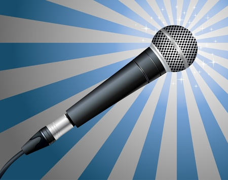 mike: Microphone. Vector illustration