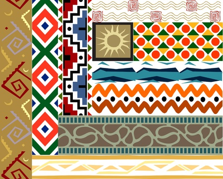 Tribal pattern set Vector