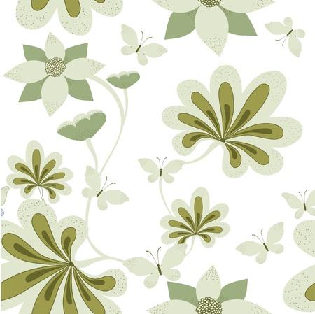 Seamless floral background  illustration Vector