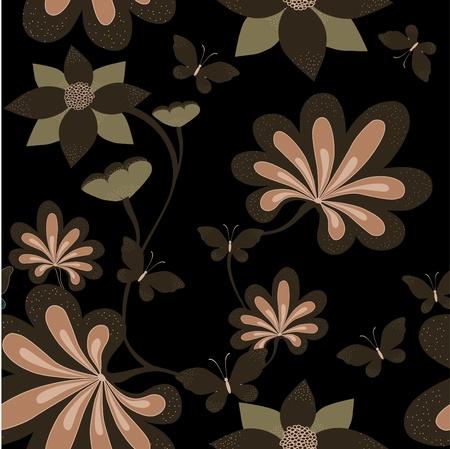 Seamless dark background   Vector