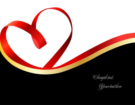 tally: Red heart ribbon