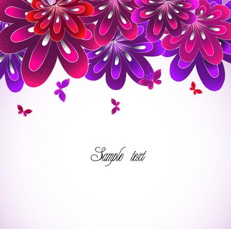 Flower pink background  Vector Illustration