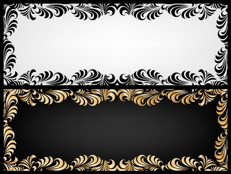 Vintage two frame Stock Vector - 12718533