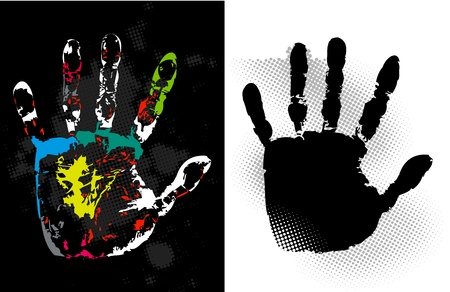 splashed: Abstract grunge hand style art Illustration