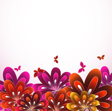 Beautiful flower background Stock Vector - 12718603