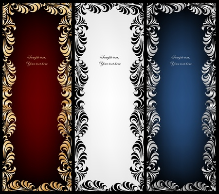 Set vintage frame Vector