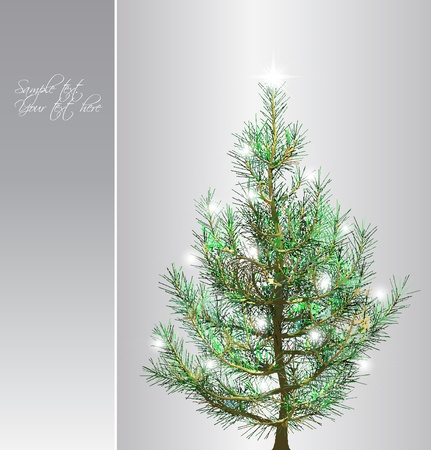 firtree: Christmas background with fir-tree Illustration