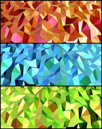Collection of Abstract backgrounds with triangle  Vector