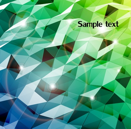 triangular banner: Abstract cyan background  Combination of triangle  Vector