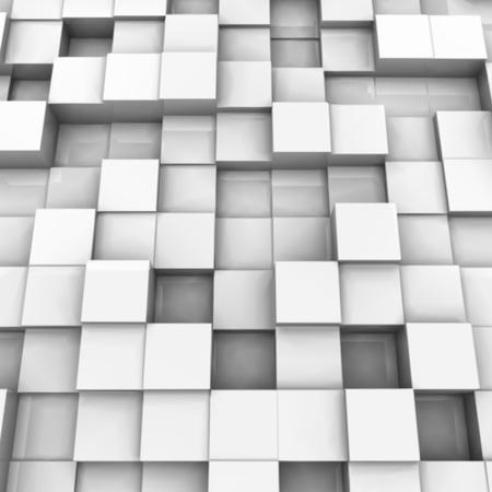 White brick wall, with random height bricks  Vector Vector