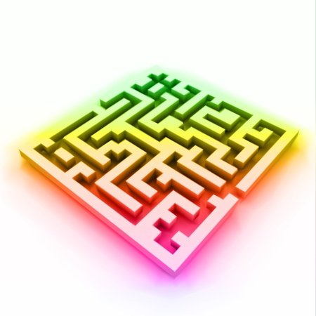 escape route: Vector of colorful maze  labyrinth
