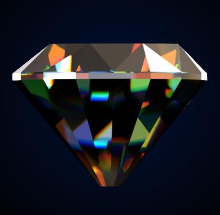 Shiny and bright diamond  Vector