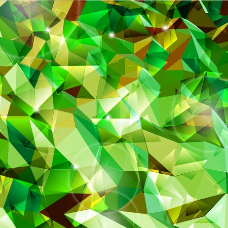 Abstract green background  Combination of triangle  Vector Stock Vector - 12931265