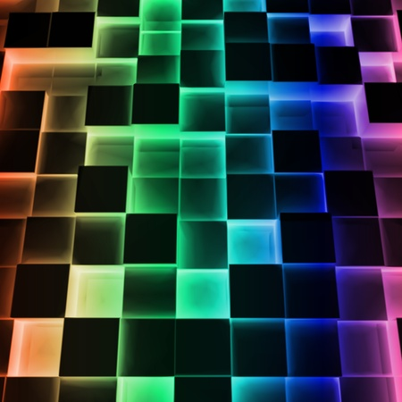 Disco Abstract Square Box  Vector Vector