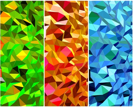 Set of Abstract backgrounds with triangle  Vector