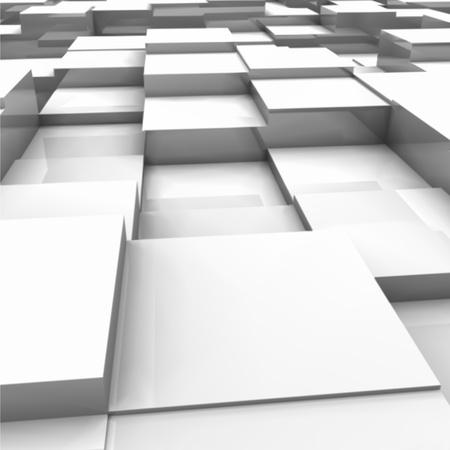 White brick wall, with random height bricks Stock Vector - 12931212