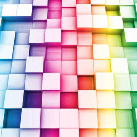 Colorful cubes  Vector background
