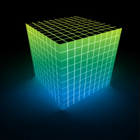 Abstract glowing cube  Vector Vector