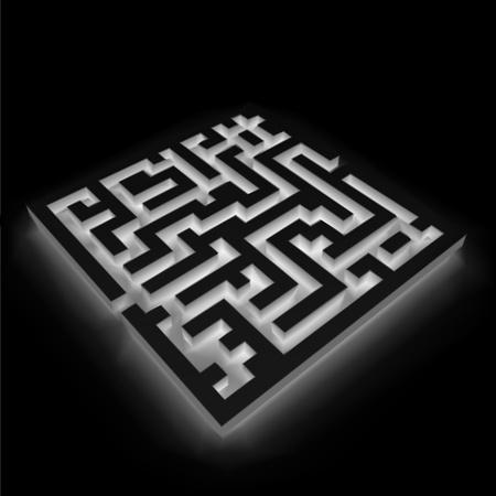 ambiguous: Maze  labyrinth  on black background  Vector Illustration