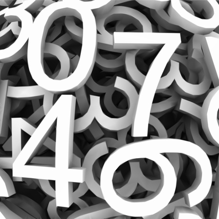 Set of digital numbers  Vector background Vector
