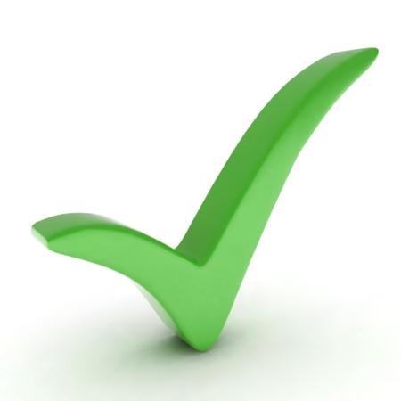 Green check mark  Vector Stock Vector - 12931330