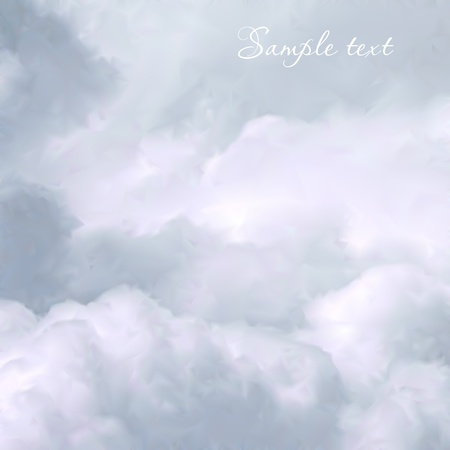 peaceful: White Sky and Clouds  Vector