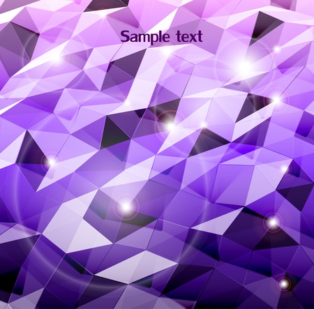 Abstract violet background  Combination of triangle   Vector