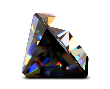 Shiny and bright black diamond