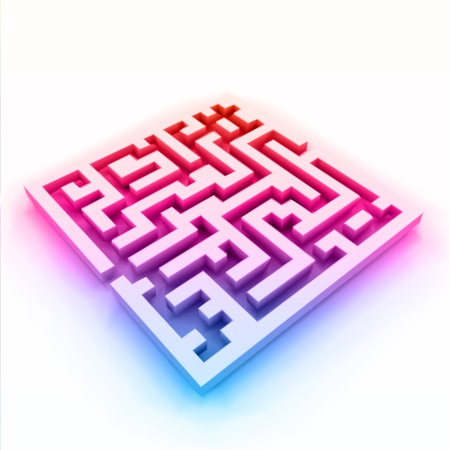 colorful maze  labyrinth Stock Vector - 13004480