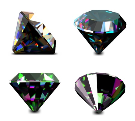 zircon: Set of jewelry gems  Vector