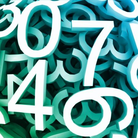 Set of digital numbers  Vector blue background Stock Vector - 13056372