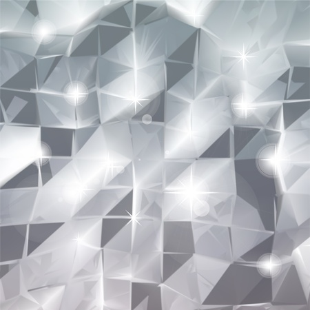Abstract triangle silver background  Vector Vector