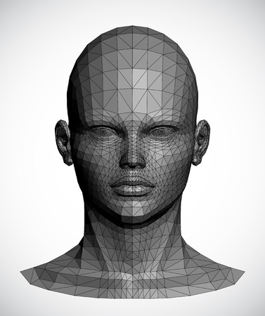 Vector of a gray female head Vector