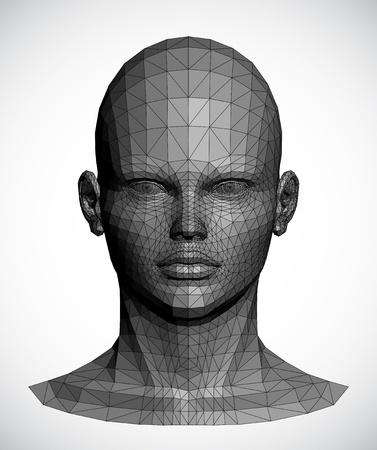 Vector of a gray female head Vector